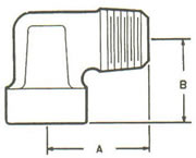 189A Elbow, Tube to MPT Double Compression Fittings