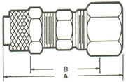 262PFC Union, Poly-Fit to Compression Fittings