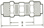 262PF Union, Tube to Tube Fittings