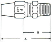 268A Connector, Tube to MPT Fittings