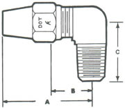 269A Elbow, 90º Tube to MPT Fittings