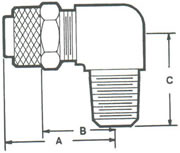 269PF Elbow, 90º Tube to MPT Fittings