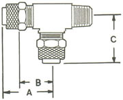 271PF Male Run Tee, Tube to MPT to Tube Fittings