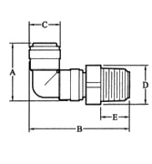 469 360° Swivel Elbow to MPT