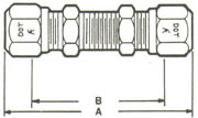 62NABH Bulkhead Union, Tube Both Ends Fittings